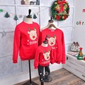 Winter family matching clothes outfits long sleeve Christmas Deer Crtoon cotton T-shirt father mother son outfit Family Look