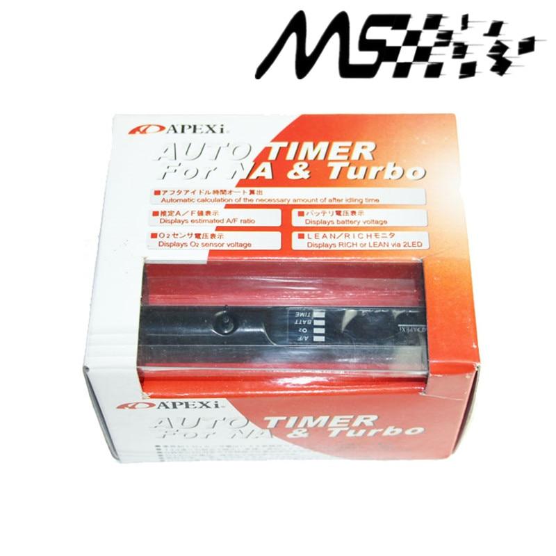 APEXI Turbo Timer för Universal Car Auto med originalbox och logotyp (röd / blå / vit LED-ljus)