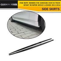 Carbon Fiber Auto Side Skirts Car Body Lip Fits For BMW F30 320i 328i 335i M Sport Sedan 4 Door 2012 2016