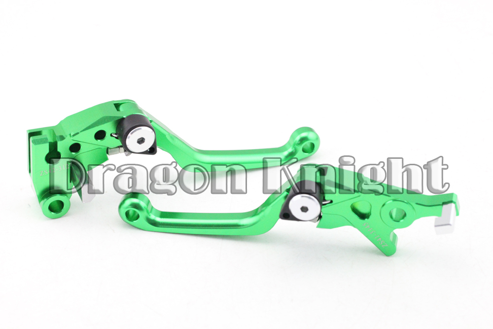 CNC Pivot Brake Clutch Levers For KAWASAKI KLX 250 D-TRACKER 08-12  Green for yamaha yz80 yz85 kawasaki kdx200 kdx220 suzuki rm85 rm125 rm250 drz125l cnc dirttbike pivot brake clutch levers blue