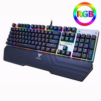 Mechanical Gaming Keyboard Optical Connection Switch RGB Backlit Anti Ghosting Waterproof USB Wired Pro Gamer Russian