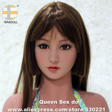 WMDOLL Top Quality Japanese Real Doll Head For Silicone Reborn Dolls Lifelike Love Dolls Heads Oral Adult Sexy Toys