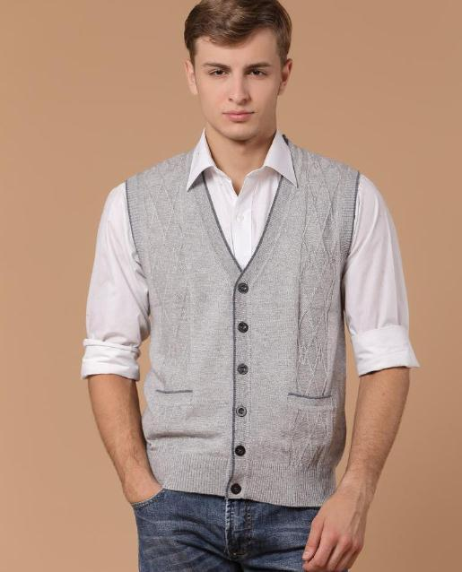 New Arrival Clothing Cashmere Sweater Men Cardigan Vests Wool Vest Knitted Mens Cardigans Sleeveless