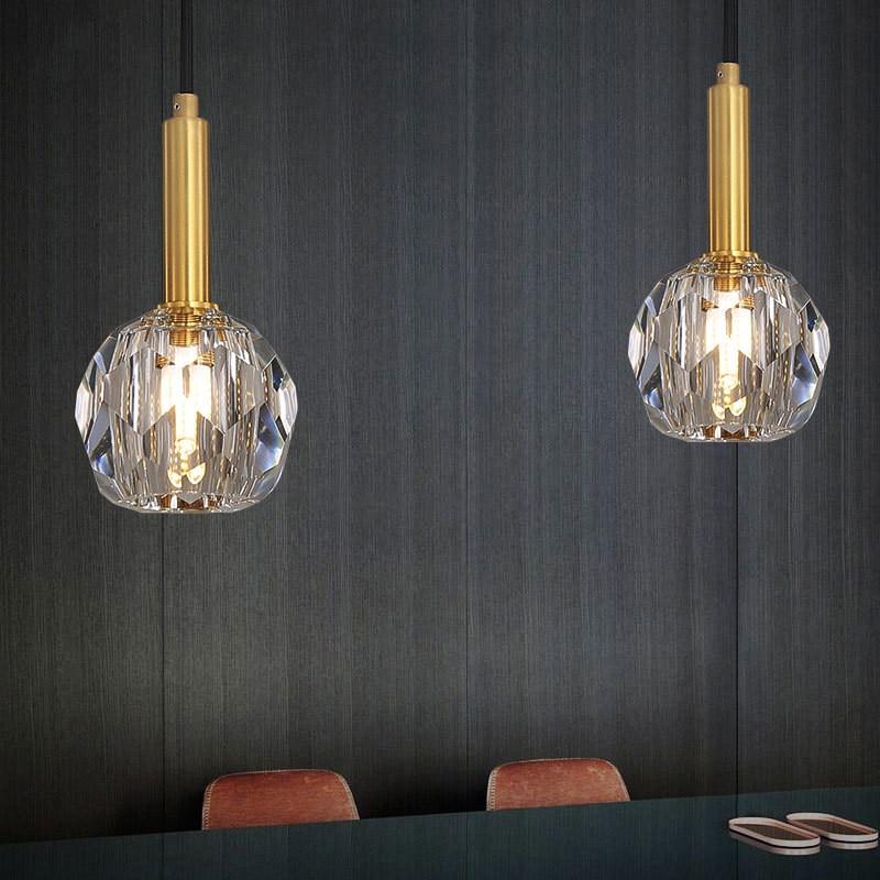Diamond Crystal Led Chandelier Light Lighting Nordic Light Restaurant Bedroom Hotel Decoration Led Pendant Lamp Free Shipping