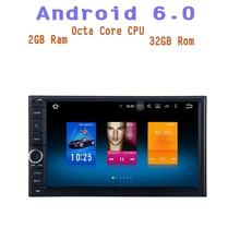 Octa Core Android 6.0 Radio de coche gps para Nissan universal 2 Del Coche Del dinar SIN unidad Principal de Audio de DVD wifi 4g 2G Ram Multimedia