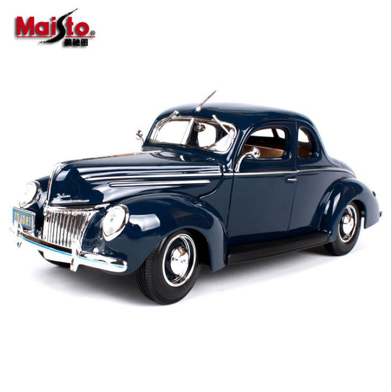 Maisto car-styling 1/18 Scale Diecast Alloy Model Cars ford classic car models kids toys for boys children gift brinquedo 1 18 scale maisto classic children 1956 chrysler 300b antique vintage car metal diecast vehicle gift model kids toys collectible