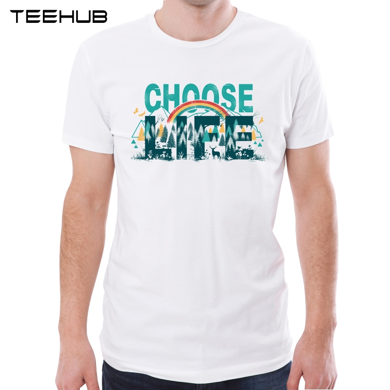 Teehub New Arrival 2019 Men Fashion Choose Life Printed T Shirt Hipster Tee Cool Words Design Tops Designer T Shirt Fashion T Shirtprint T Shirt Aliexpress