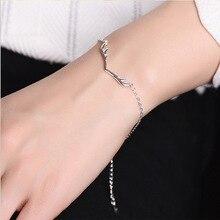 Mulheres de luxo Da Marca Pulseira 925 Pulseira De Prata Exclusivo para Mulheres Pulseiras & Bangles