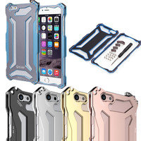 Ultra Thin Gundam Outdoor Aluminum Metal Shockproof Frame Bumper Case For IPhone 4 4S 5 5C