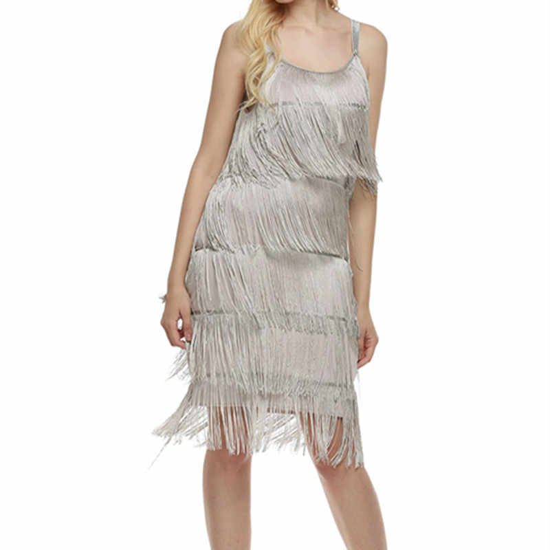 2019 Straps Summer Gatsby Women S Clothes Glam Women Costume Clothing Party  Tassels Flapper Beach Dresses Fringe 9d294d12c9df