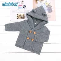 Baby Sweaters Cardigan Newborn Boys Girls Knitted Jackets Coats Autumn Winter Warm Toddler kids Hooded Knitwear Coats Button Up