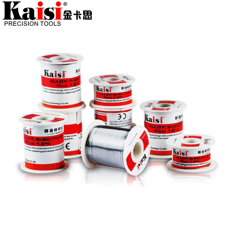 Kaisi 0.3mm 0.4mm 0.5mm 0.6mm Low Melting Point Solder Wire Repair Welding Lead Tin Wire Rosin Core Solder Soldering Wire