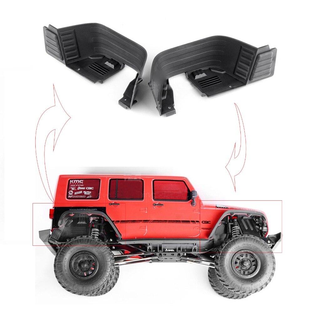 Kits de Protector de coches XBERSTAR plástico delantero/trasero interior de pozos/guardabarros para Axial Scx10 Ii Ax90046 Ax90047 RC-in Accesorios y piezas de reemplazo from Productos electrónicos    1