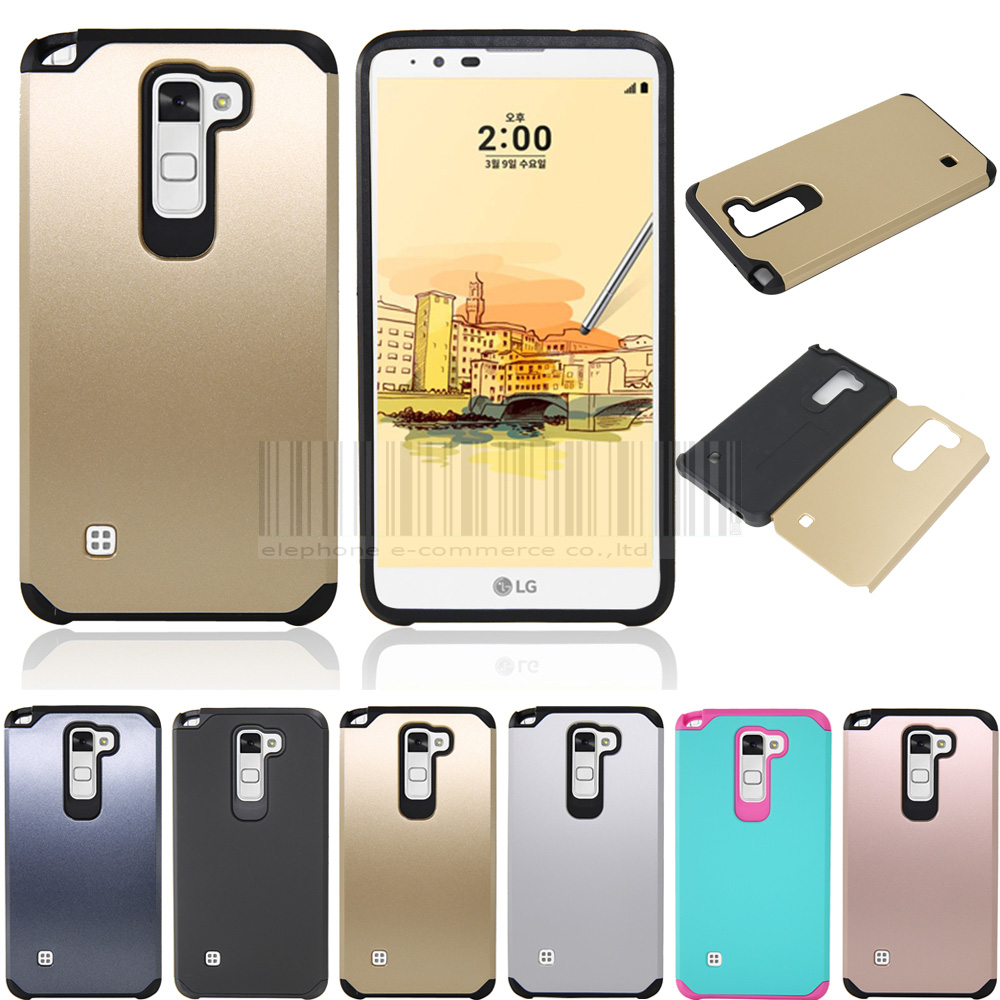 finest selection df368 c665e Mix Color Anti-shock Slim Hybrid Impact Armor Case Hard Protective For LG  Stylus 2/G Stylo 2 LS775 /K520 Cover