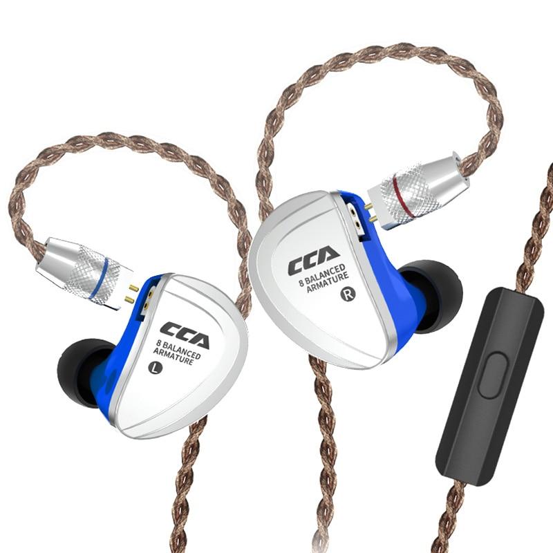 CCA C16 8BA Drive Units In Ear Earphone 8 Balanced Armature HIFI Monitoring Headphone Headset With Detachable Detach 2PIN CableCCA C16 8BA Drive Units In Ear Earphone 8 Balanced Armature HIFI Monitoring Headphone Headset With Detachable Detach 2PIN Cable