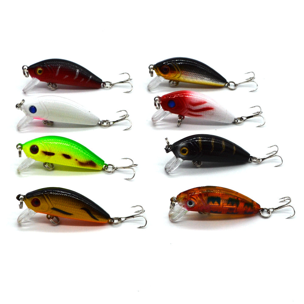 5cm striped bass floating minnow lure for Artificial fishing bait