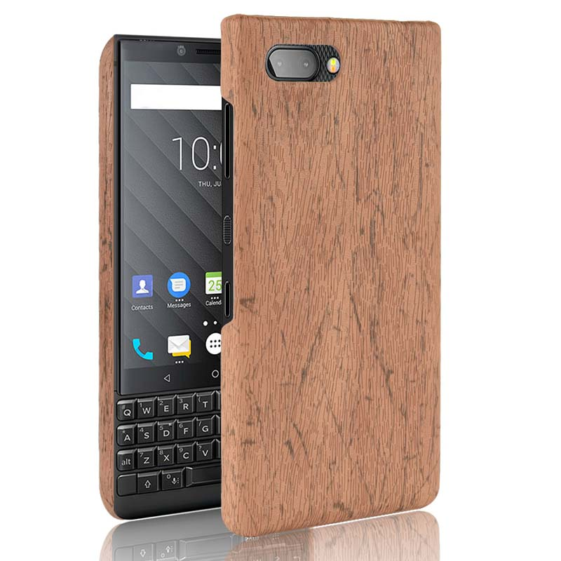 Wood Grain Case for BlackBerry KEY2 Key 2 Hard Back Phone Cover for Case Blackberry KeyTwo Key 2 Two Fundas Shell(China)