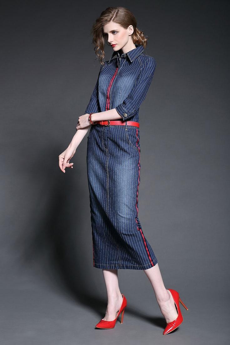 Aliexpress.com : Buy Fashion women&39s 2015 autumn denim dress ...