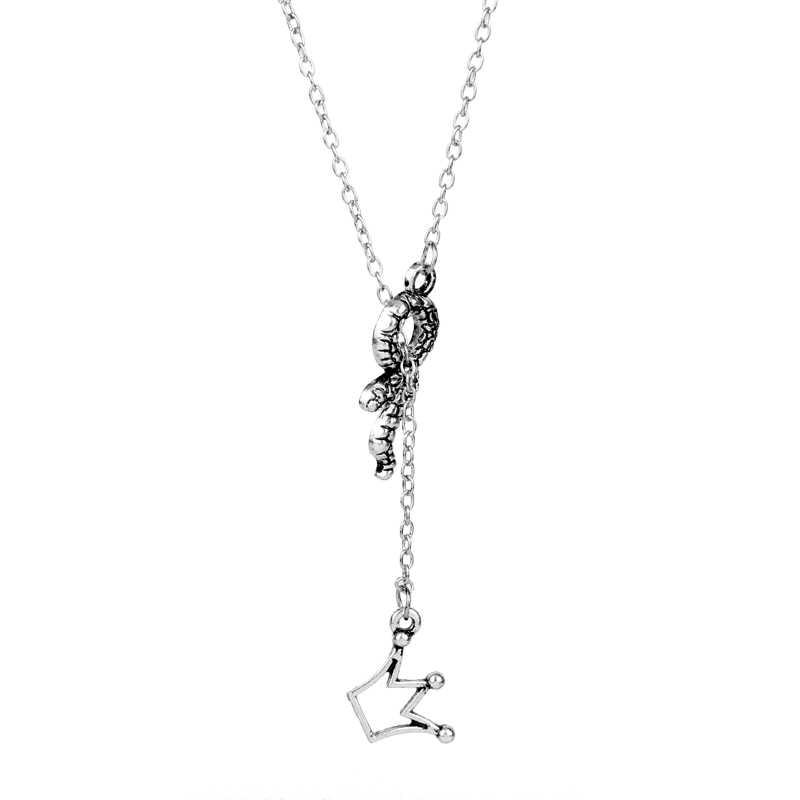 dongsheng Riverdale Fashion Charm Lariat Necklace Riverdale Jughead Jones Crown Pendant Necklaces Women Girl Choker Jewelry Gift