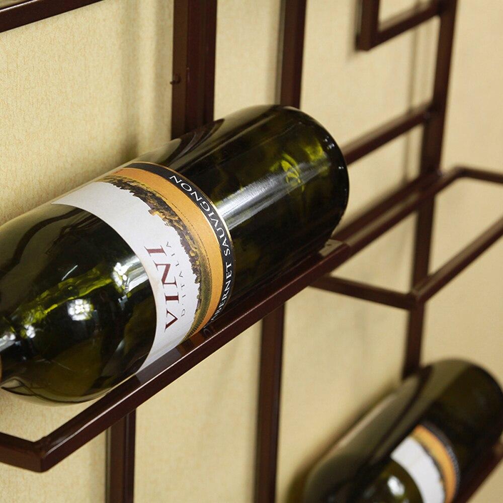 Classic Handmade Euro Style Iron Wall Mounted Wine Bottle Holder ...