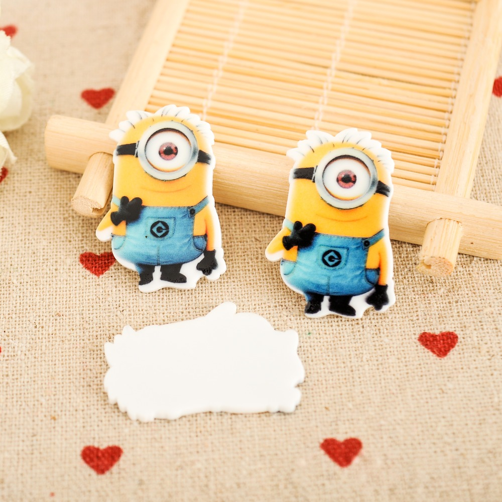 kawaii Minions Figurine holiday decoration crafts flat back planar resin  DIY phone hair Bow accessories 2102 6f5097ed9