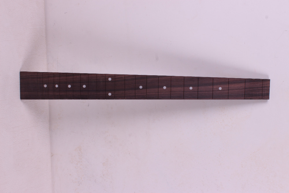 2 pcs guitare Fretboard touche Fretless guitare pièces Dot incrusté érable bois #40