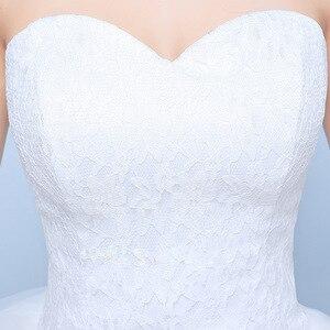 Image 4 - فساتين زفاف 2019 رداء دي ماريج الأميرة بلينغ بلينغ فاخر الدانتيل الأبيض الكرة ثوب الزفاف Vestido De Noiva
