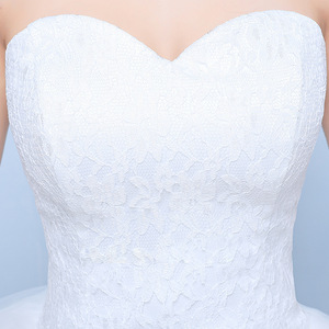 Image 4 - Gelinlik 2019 Robe De Mariage prenses Bling Bling lüks dantel beyaz topu cüppe gelinlikler Vestido De Noiva