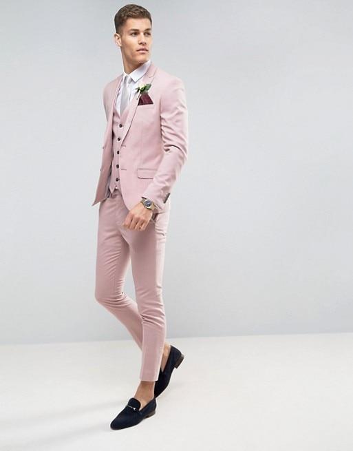 c4c64efd6d6a Smoking Abiti Sposo Partito Promenade Made Matrimonio Tailor Fit Uomo Pants  As Costume Slim Pezzo Da custom The Vest Ternos Image Di ...