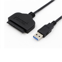 "USB 3.0 to 2.5"" inch SATA 22 Pin HDD SSD Hard Drive Disk Power Adapter Cable, free shipping"