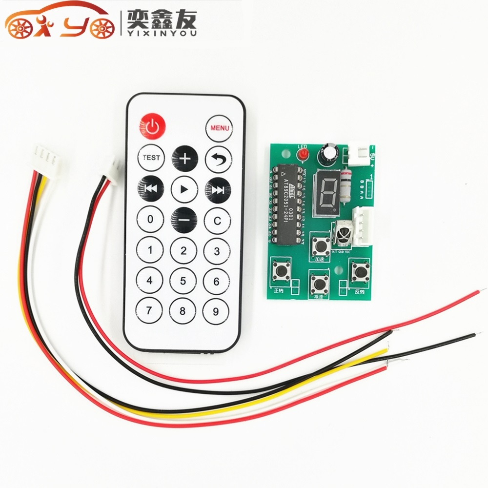 Adjustable 2 Stage 4 Wire Stepper Motor Driver Speed Controller Remote Control