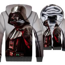 wool liner hip-hop jacket 2018 winter thick brand clothing male Classic star wars jackets coats men 3D printed hooded hoodies цена и фото