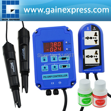 Dual Display DIGITAL 2 en 1 Acuario CONTROLADOR BNC ELECTRODOS Redox ORP PH mV CO2 O3 110 V/220 V