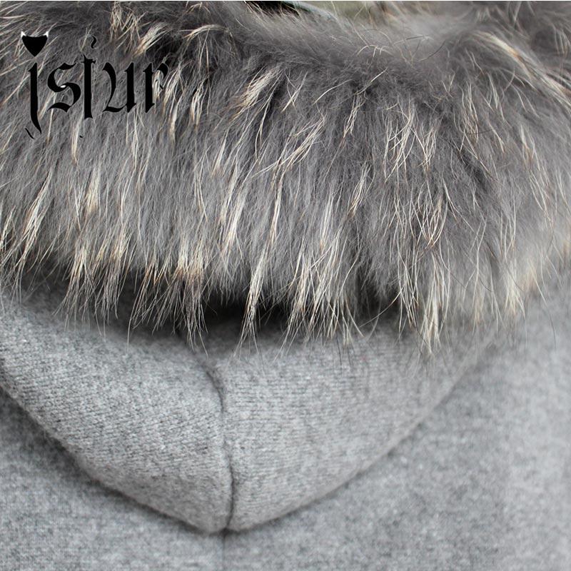 Réel 2015 Manteau Fourrure Chaud Dame souris Avec Capot Long De Raton En Cachemire Qualité Hiver Laveur Cheveux Mode Châle Chauve Manches Haute Lapin Mélange 80XOZNnPkw