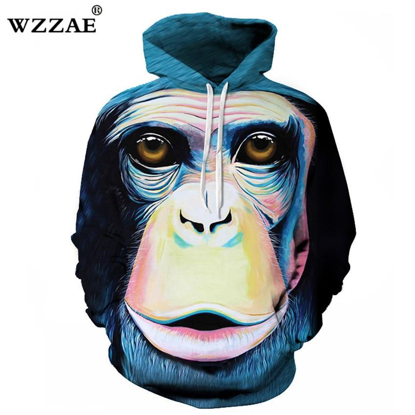 Hoodies & Sweatshirts 2018 New Design Monkey Printed Men/women 3d Hoodies Sweatshirts Fashion Animal Tracksuit Casual Jacket Long Sleeve Pullover Delicious In Taste