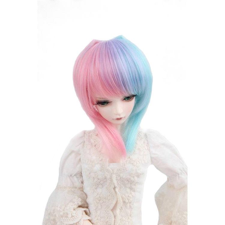 [wamami] 97# cute multicolor short wig for 1/4 MSD DOD AOD LUTS BJD Dollfie [wamami] 47 flaxen short wig for 1 4 msd aod dod dz bjd doll dollfie 8 9 inch