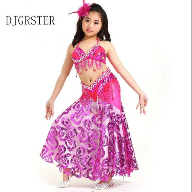 b54cf60733a0 Kids Belly Dancing Girls Oriental Costumes For Children Bellydance Girls  Bollywood Indian Performance Dancewear Clothing Set