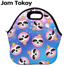 Jom Tokoy Sloths Thermal Insulated print Lunch Bags for Women Kids Bag Box Food Picnic Tote Handbags Wcb727