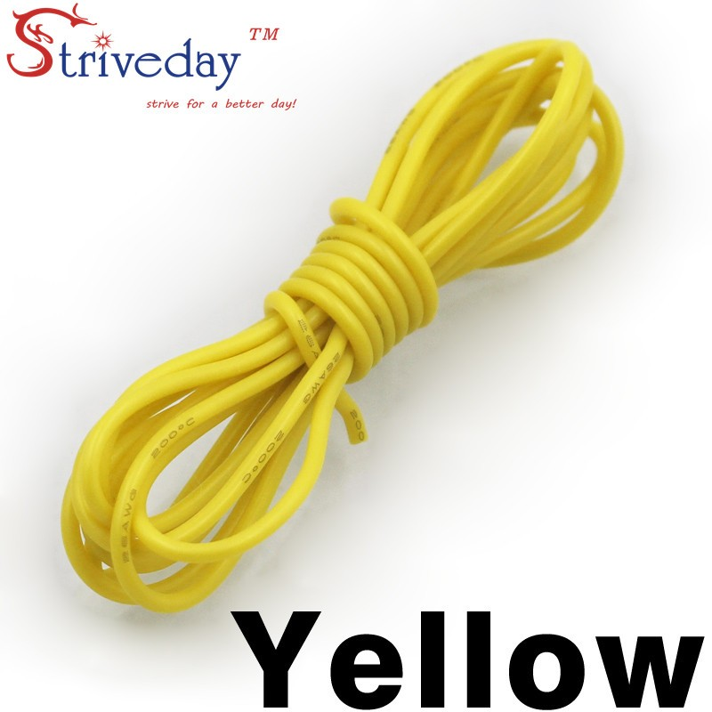 10m metre 0.50 mm/² AWG 21 copper wire, yellow Automotive Wire 0.50 mm/² Thin Wall Cable length 5m or 10m choice: