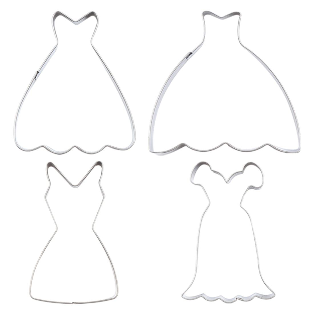 Useful Girl Wedding Dress Shape Stainless Steel Cookies