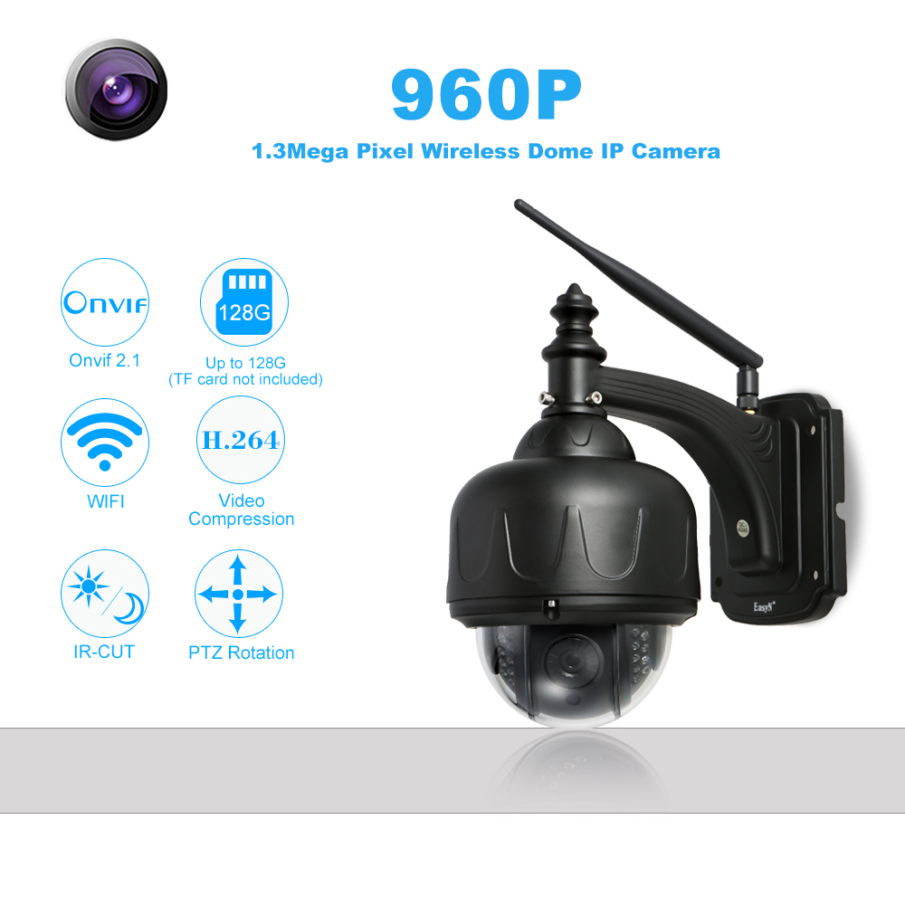 HD 960P Wireless IP Camera WiFi 1 3MP PTZ Security Camera Outdoor Waterproof Support P2P Onvif