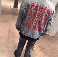 2017 Мода негабаритных ПАБЛО мужские Куртки сломанной отверстие жан пальто ХИП-ХОП куртка Мотоцикла джинсы джинсовая куртка мужчины