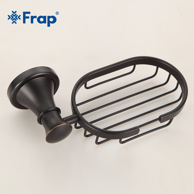 Frap Soap Dishes Brass Chrome Finish Soap Basket Wall Mounted Shower Soap Dish Holder Bathroom Accessories Bath Hardware Y18021 newly wall mounted soap dish holder bath soap basket brass soap rack antique bronze