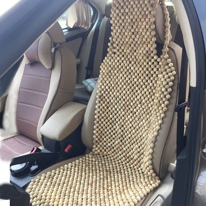 Universal Wooden Car Seat Cover Natural Camphor Wood Massage Car Seat Cushion Pad Interior Accessories