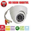 Vanxse CCTV 1/3 CMOS 1000TVL 24 LEDs IR-CUT D/N Câmera de Vigilância Cúpula Interior Câmera De Segurança De Áudio do Microfone