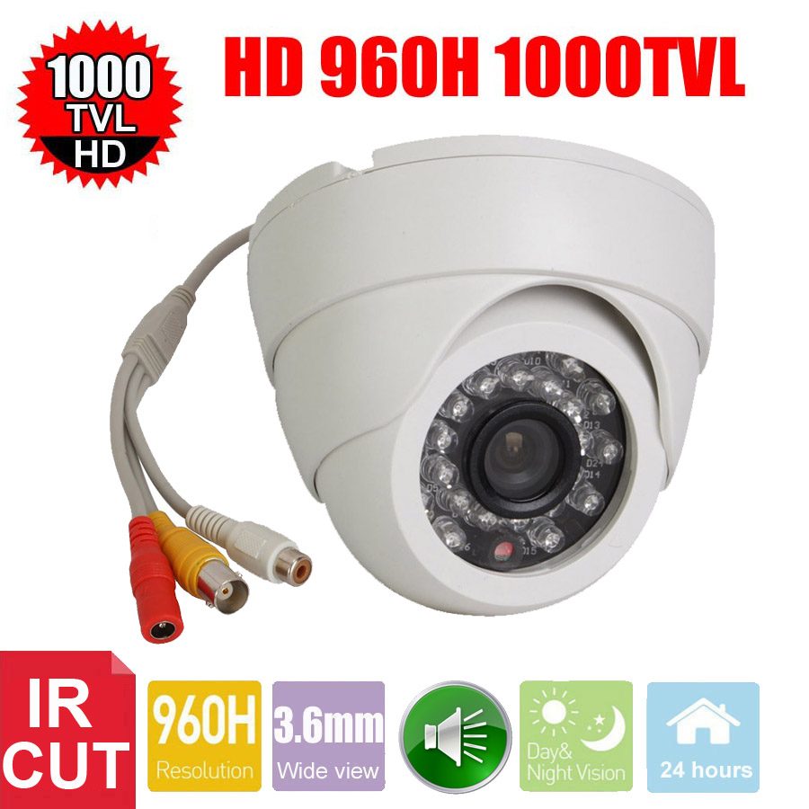 Vanxse CCTV 1/3 CMOS 1000TVL 24LEDs IR-CUT D/N Indoor Dome Audio Security Camera Microphone Surveillance Camera fghgf shoes men s slippers hma