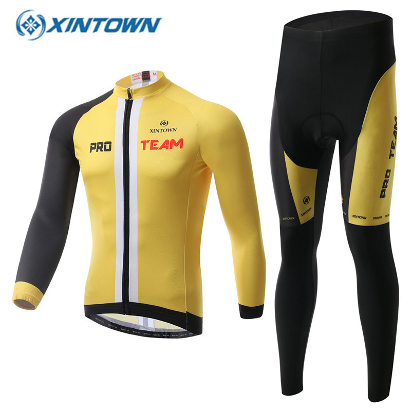 XINTOWN Men's Cycling Jersey 2017 Winter Thermal Fleece Team Long Sleeve Bicycle Clothing Bike Clothes black thermal fleece cycling clothing winter fleece long adequate quality cycling jersey bicycle clothing cc5081