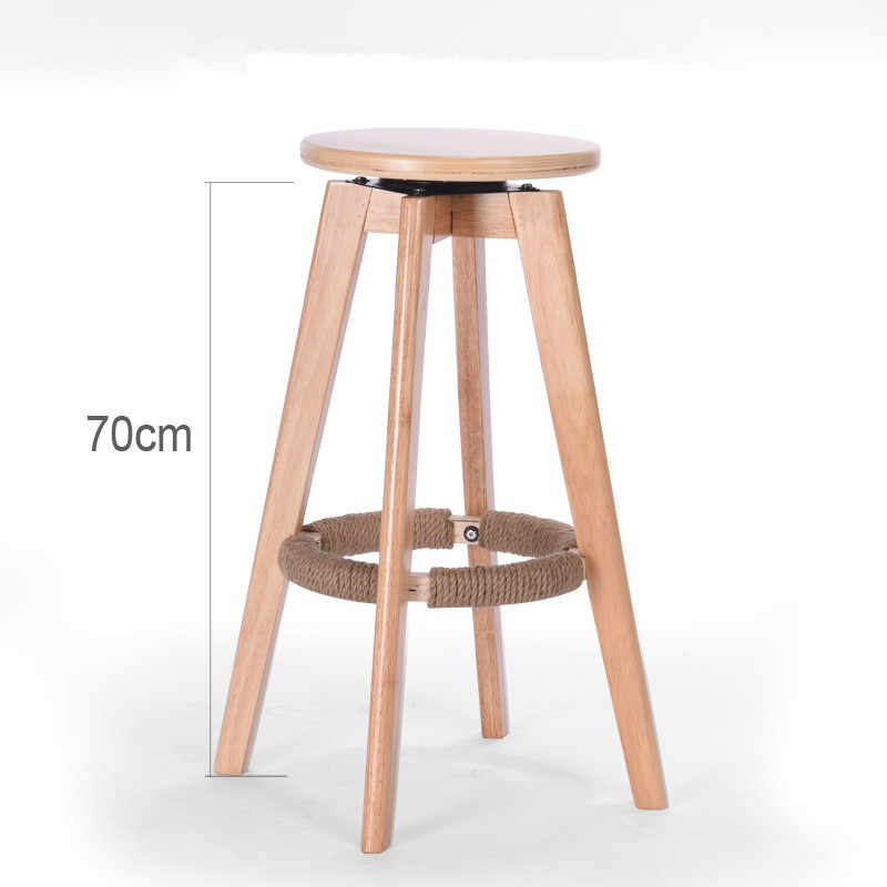 Remarkable Wooden Bar Stools Swivel Round Seat Mahogany Natural Finish Indoor Mini Home Bar Kitchen Furniture Cafe Bar Stool Rotating Chair Machost Co Dining Chair Design Ideas Machostcouk