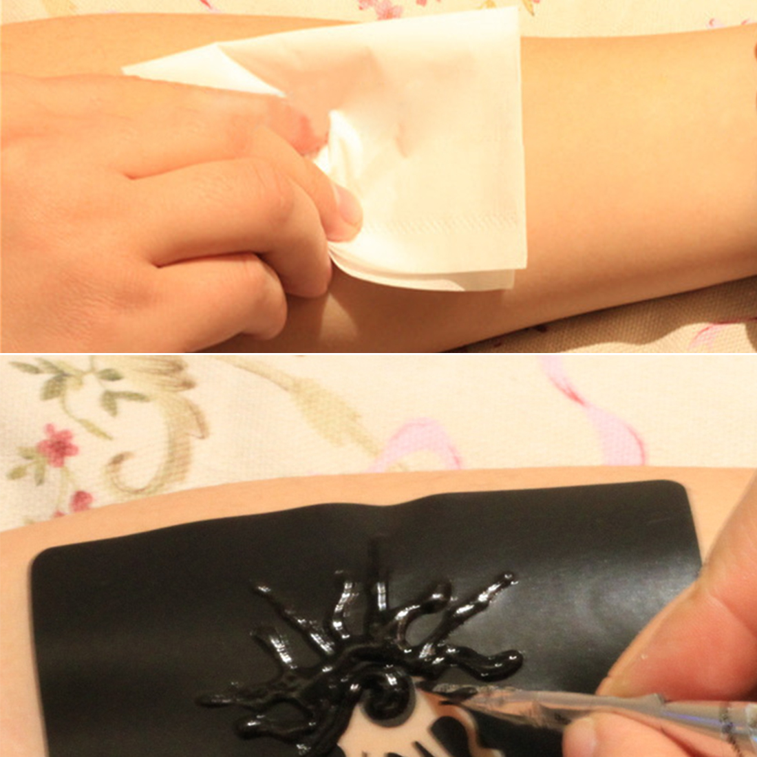 Diy Henna Tattoo Mould Hand Paint Cream Special Template 10pcs