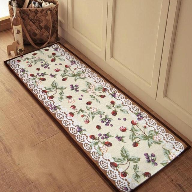 4 Sizes Blueberry Fashionable Kitchen Rug In Home Big Size